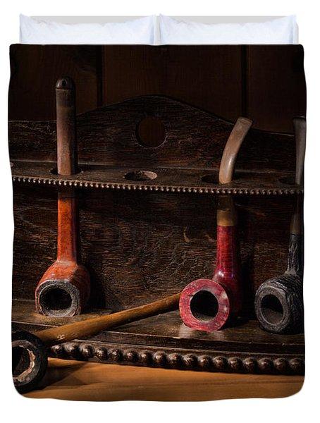 The Pipe Rack Duvet Cover by Ann Garrett