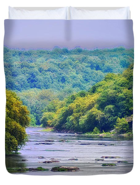 The Potomac Duvet Cover by Bill Cannon