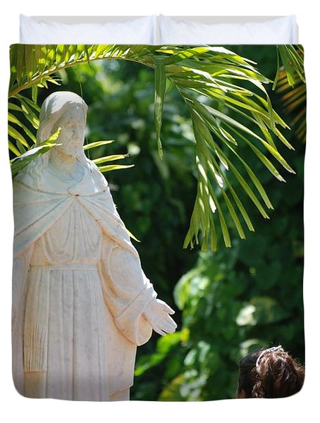 The Praying Princess Duvet Cover by Rob Hans