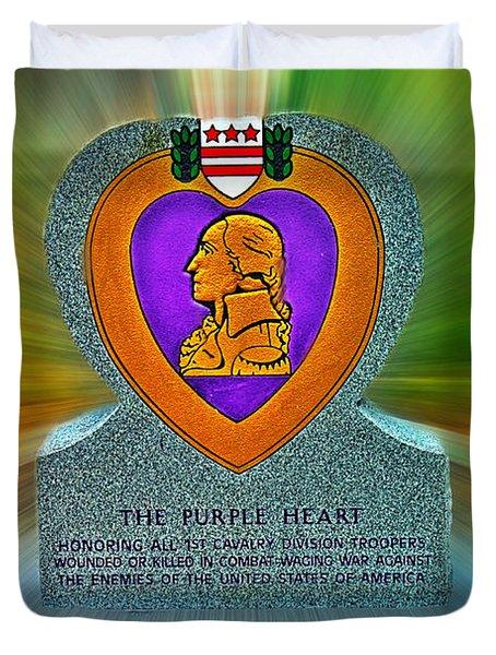 the Purple Heart Duvet Cover by Francisco Colon