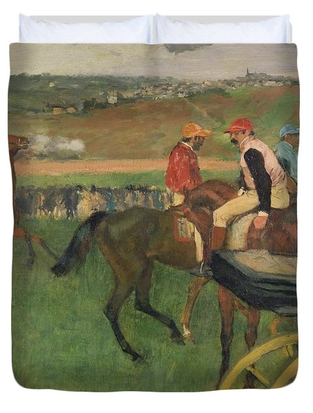 The Race Course Duvet Cover by Edgar Degas