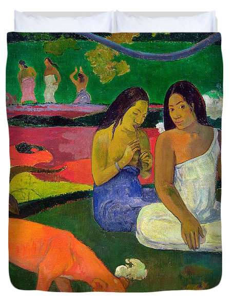 The Red Dog Duvet Cover by Paul Gauguin