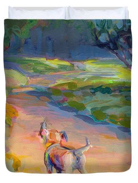 The Road Ahead Duvet Cover by Kimberly Santini