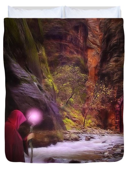 The Road Less Traveled Duvet Cover by John Edwards