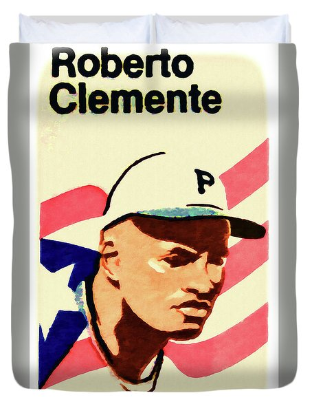 The Roberto Clemente  Duvet Cover by Lanjee Chee