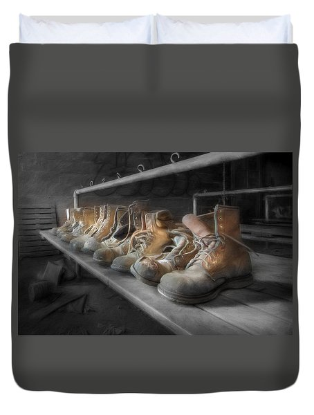 The Room of Lost Soles Duvet Cover by Lori Deiter
