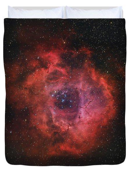 The Rosette Nebula Duvet Cover by Rolf Geissinger