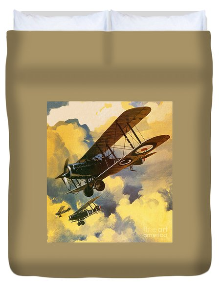 The Royal Flying Corps Duvet Cover by Wilf Hardy