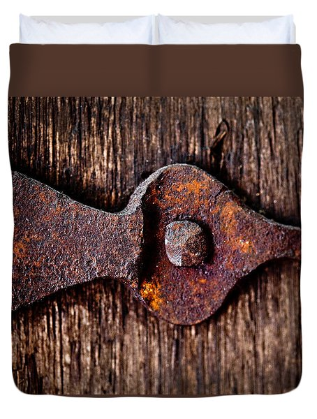 The Rusty Hinge Duvet Cover by Lisa Russo