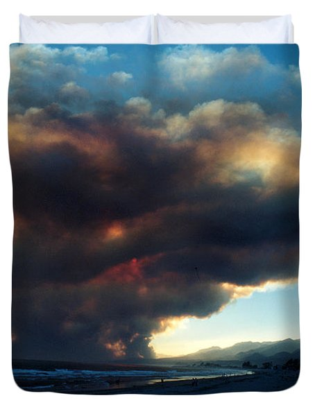 The Santa Barbara Fire Duvet Cover by Jerry McElroy