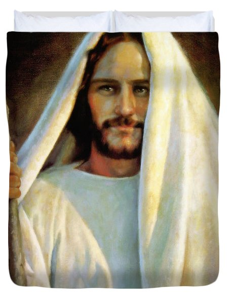 The Savior Duvet Cover by Greg Olsen