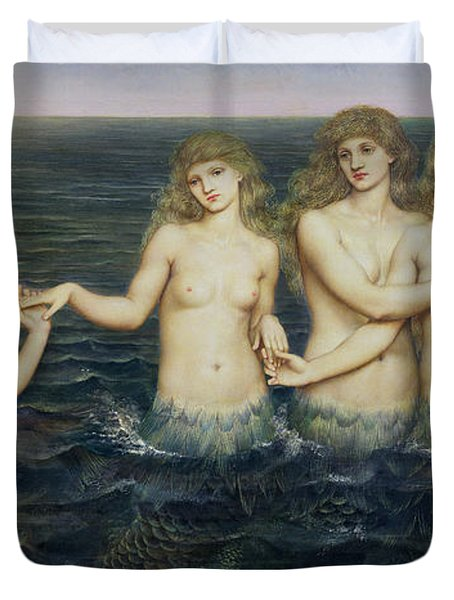 The Sea Maidens Duvet Cover by Evelyn De Morgan