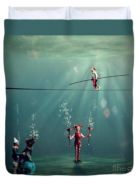 The Secret Venetian Circus Duvet Cover by Martine Roch
