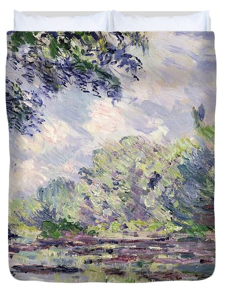 The Seine At Giverny Duvet Cover by Claude Monet