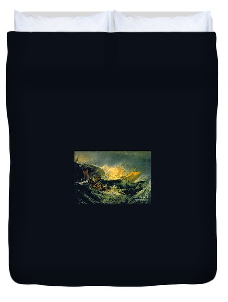 The Shipwreck Of The Minotaur Duvet Cover by JMW Turner