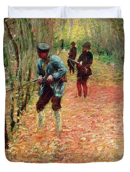 The Shoot Duvet Cover by Claude Monet