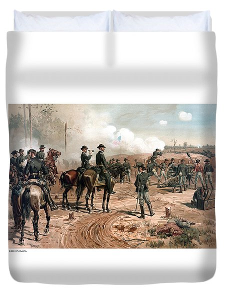 The Siege Of Atlanta Duvet Cover by War Is Hell Store