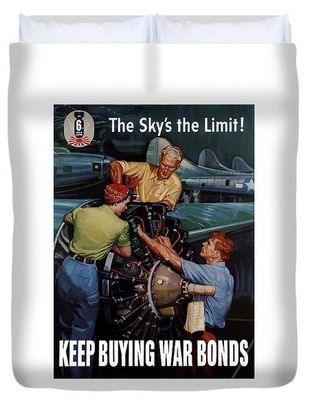 The Sky's The Limit Duvet Cover by War Is Hell Store