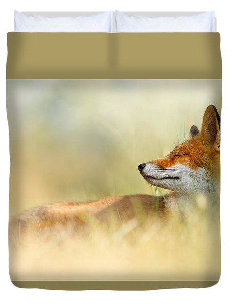 The Sleeping Beauty - Wild Red Fox Duvet Cover by Roeselien Raimond