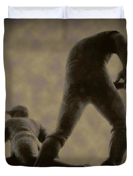 The Slide - Kick Up Some Dust Duvet Cover by Bill Cannon