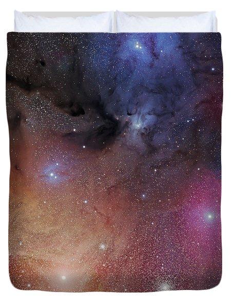 The Starforming Region Of Rho Ophiuchus Duvet Cover by Phillip Jones