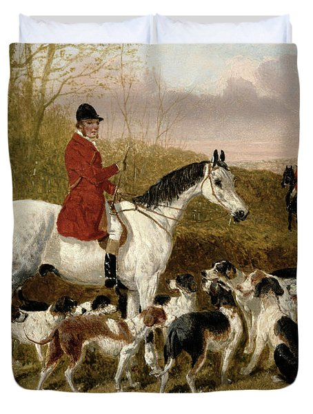 The Start  Duvet Cover by John Frederick Herring Snr
