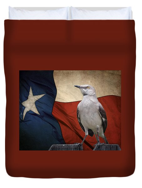 The State Bird Of Texas Duvet Cover by David and Carol Kelly