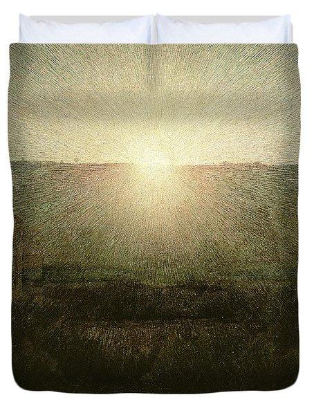 The Sun Duvet Cover by Giuseppe Pellizza da Volpedo