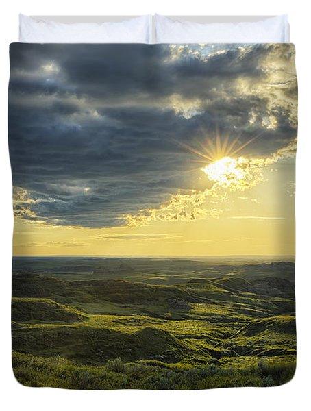 The Sun Shines Through A Cloud Duvet Cover by Robert Postma