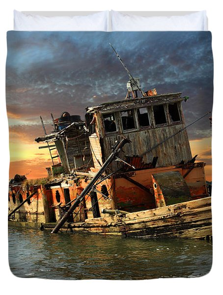 The Sunset Years Of The Mary D. Hume Duvet Cover by James Eddy