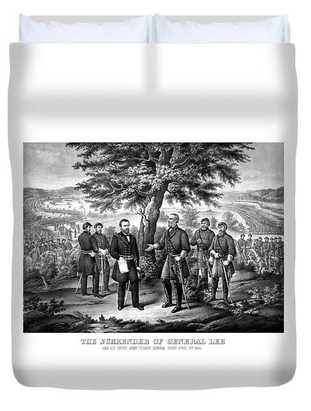 The Surrender Of General Lee  Duvet Cover by War Is Hell Store