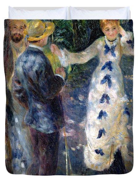 The Swing Duvet Cover by Pierre Auguste Renoir