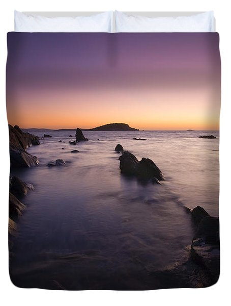 The Teeth of Twilight Duvet Cover by Mike  Dawson