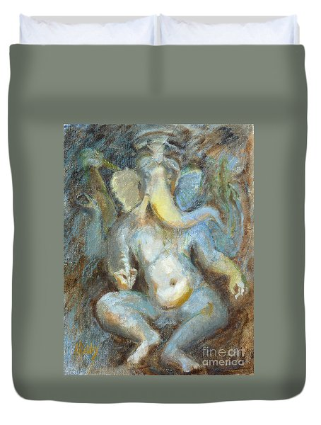 The Temple Of Love Ganesh Duvet Cover by Ann Radley