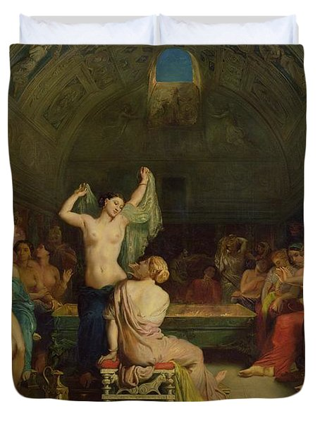 The Tepidarium Duvet Cover by Theodore Chasseriau