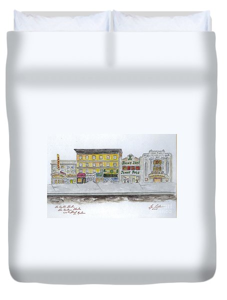 Theatre's Of Harlem's 125th Street Duvet Cover by AFineLyne