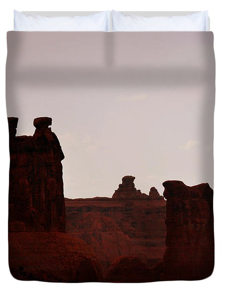 The Three Gossips Arches National Park Utah Duvet Cover by Christine Till