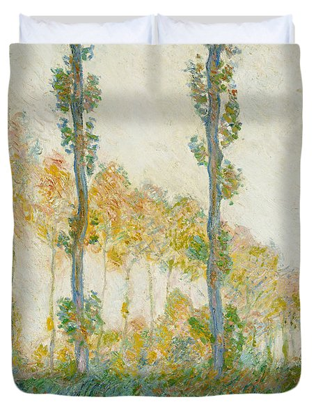 The Three Trees Duvet Cover by Claude Monet