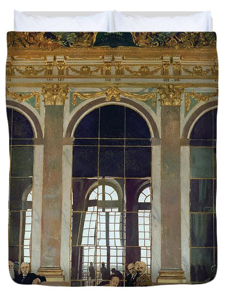 The Treaty Of Versailles Duvet Cover by Sir William Orpen