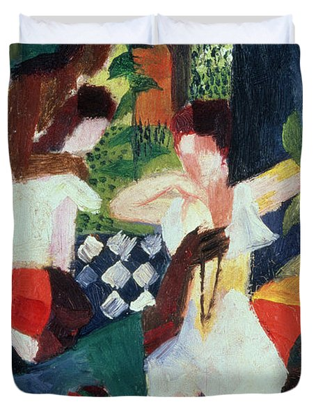 The Turkish Jeweller  Duvet Cover by August Macke