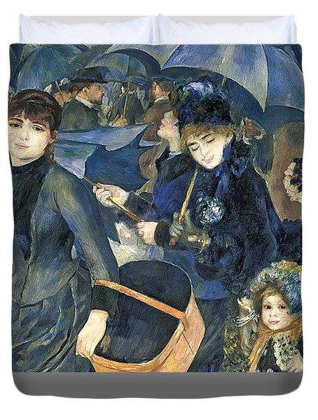 The Umbrellas Duvet Cover by Pierre Auguste Renoir