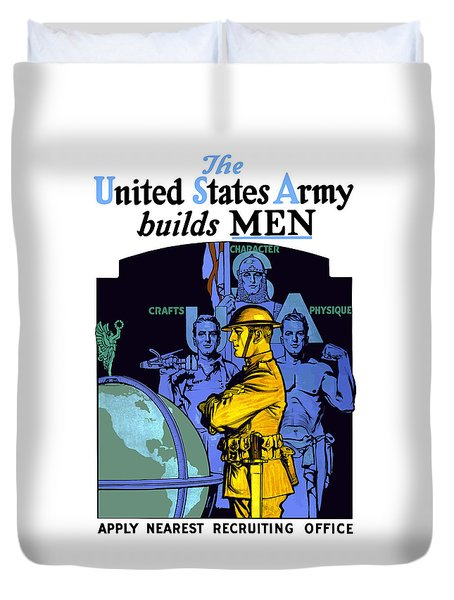 The United States Army Builds Men Duvet Cover by War Is Hell Store