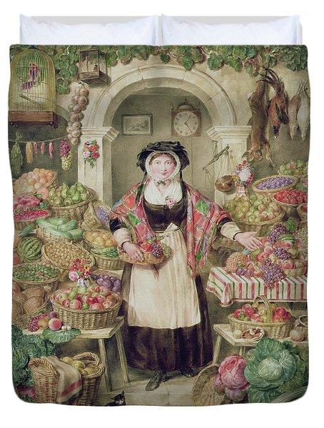 The Vegetable Stall  Duvet Cover by Thomas Frank Heaphy