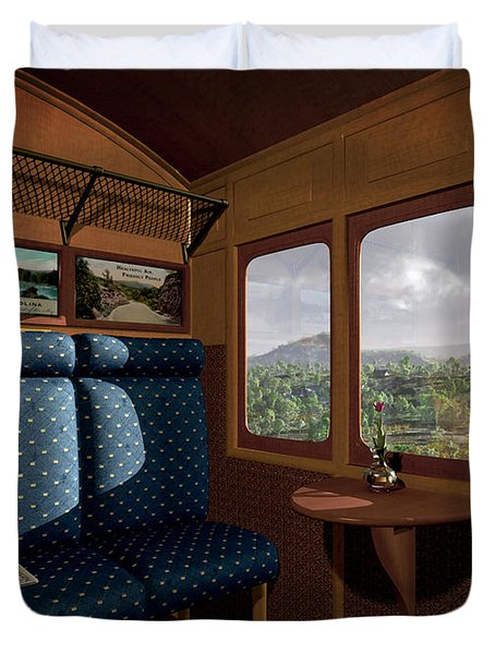 The View From Marion Station Duvet Cover by Cynthia Decker