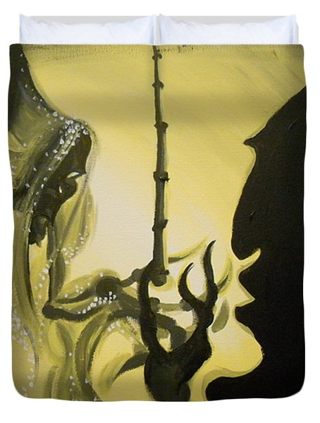 The Wand of Destiny Duvet Cover by Lisa Leeman