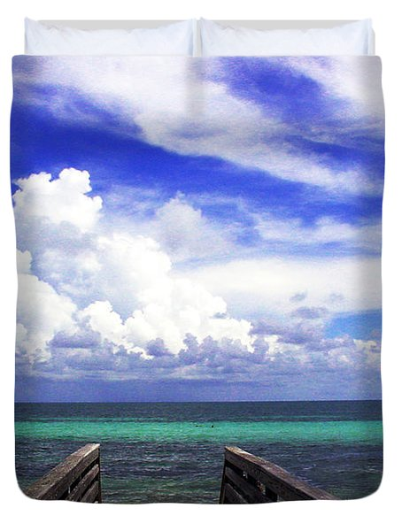 The Way To The Beach 2 Duvet Cover by Susanne Van Hulst