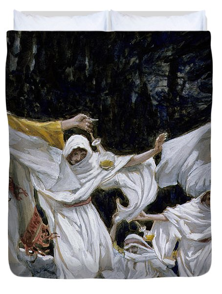 The Wise Virgins Duvet Cover by Tissot