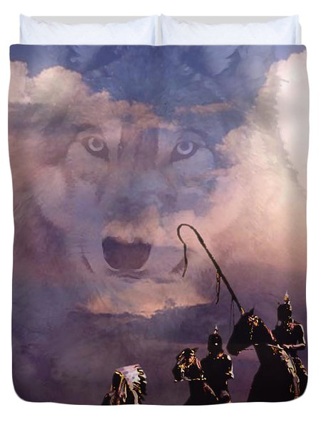 The Wolf Duvet Cover by Paul Sachtleben