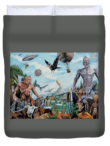 The World Of Ray Harryhausen Duvet Cover by Tony Banos
