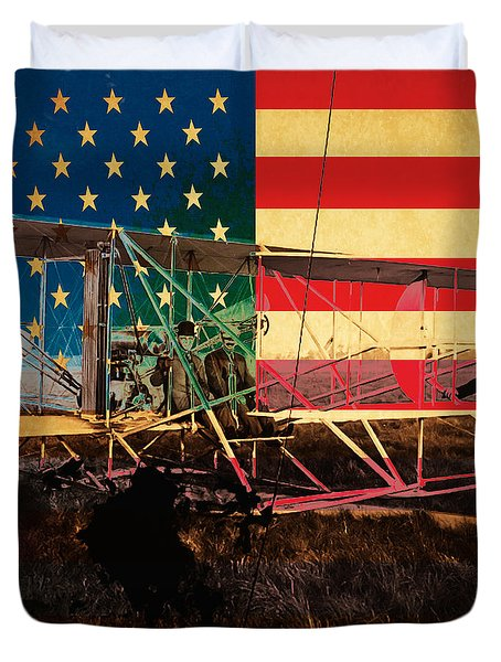 The Wright Bothers an American Original Duvet Cover by Wingsdomain Art and Photography